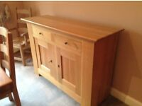 Light Oak sideboard contemporary style beautiful condition