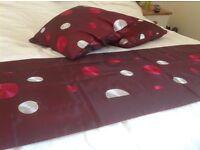 Runner and matching cushions
