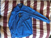 Brand new Dolce & Gabbana blue long sleeve shirt size 15 1/2 or Medium