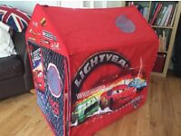 Cars pop up fabric play tent