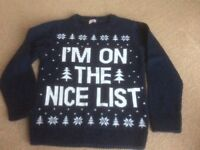 Christmas jumper Age 3-4. Like new