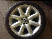 Mini Cooper allloy wheel with tyre 215/45 17