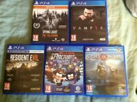 5 PS4 GAMES