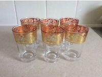 set of 6 vintage glasses