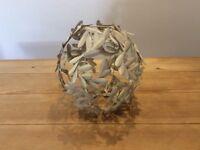 Laura Ashley ivory metal lampshades