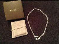 Gucci silver necklace exc condition