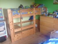 Quality Stompa Cabin Bed with desk which converts to a single bed