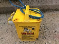Red Eye electric transformer power tool. Continuous rating 1650va. 110v Power. 2x 16A sockets