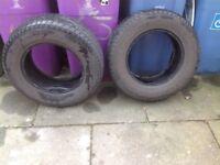 X2 4x4or van tyres part worn £30 the 2 07434826575