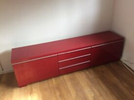 Red gloss ikea furniture in good condition