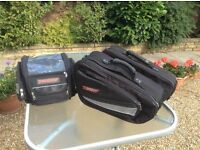 Motorcycle Tank bag and Panniers Tech 7 excellent condition