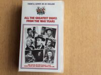 VHS Entitled All the Greatest Songs from the War Years