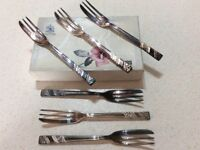 Viners silver plated pastry forks
