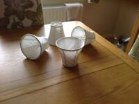 4,ivory lampshades in excellent condition