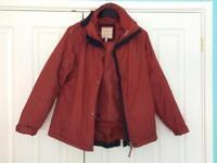 Joules Ladies Dark Red,Waterproof, 3 in 1, Size 10 Jacket