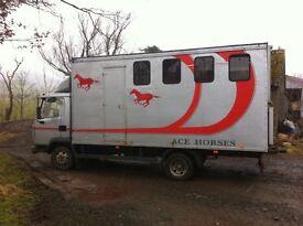 Horse lorry/ horse box 7.5t