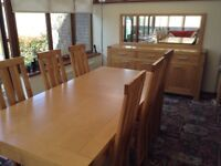Matching Dining room table,chairs,sideboard and mirror