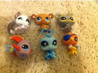 Littlest pet shop figures and accessories