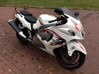 2008 58 susuki hayabusa gsx 1300 rk8 only 12600 miles full mot , full luggage pack included,