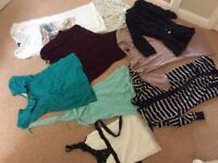 Bundle of ladies tops and cardigan size 8