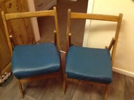 Two folding seat chairs with our without lether cover
