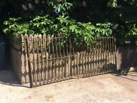 Old Period stately Gates Cast Iron.
