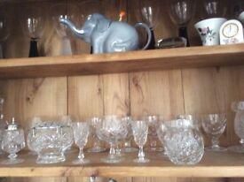 Various Crystal glassware