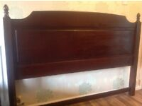 Stag Minstral mahogany King size headboard 117 cm tall x 162 cm wide.