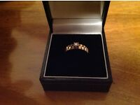 9k gold ring with 10 point diamond
