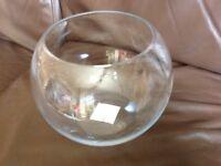 Glass fish bowl vase 17x20 cm x10