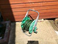 Garden hose on stand