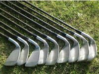Full Set of Golf Irons (3 Iron to Sand Wedge), Graphite Shafts