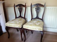 2 Antique Edwardian Chairs in Need of TLC / Can Deliver
