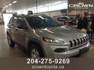 2015 JEEP CHEROKEE SPORT 4WD! CLEAN CARPROOF! ONE OWNER, LOCAL