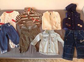Bundle of boys' clothes 6-9 months