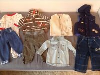 Bundle of boys' clothes 6-9 months