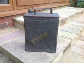 2nd World War petrol can. Dented for obvious reasons.