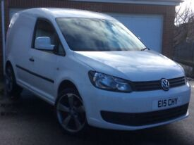 61 PLATE VW CADDY 1.6 TDI IN CANDY WHITE - NO VAT