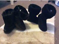 BUNDLE OF X2 UGG AUSTRALIA BOOTS SIZE UK 6 - FOR SALE £25
