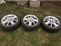 """17"""" alloy wheels with tyres"""