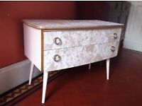 Little Vintage Retro Chest of Drawers or Dressing Table / Can Deliver