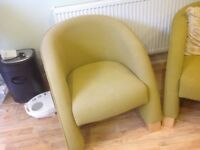 PAIR OF MODERN STYLE TUB CHAIRS