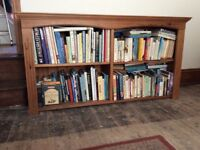 Solid well made pine bookcase/shelving unit. Excellent condition.