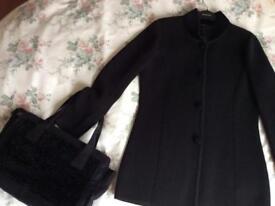 Jacket and matching designer bag