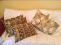 5 M&S cushions. Very good condition