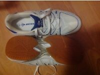 SIZE 7 DUNLOP COURT MASTER trainers. NEW. Kindly donated for local cancer charity funds thanks Lo.