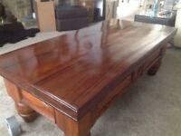 Coffee table very heavy solid hardwood