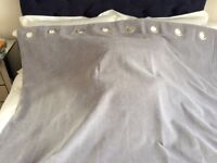 1 pair of Next silver grey velour lined eyelet curtains