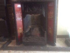 Cast iron fireplace and surround