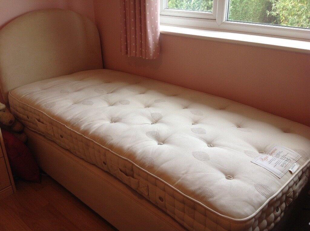 Vispring Regal Supreme single bed and divan